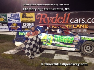 River Cities Speedway Feature Winner