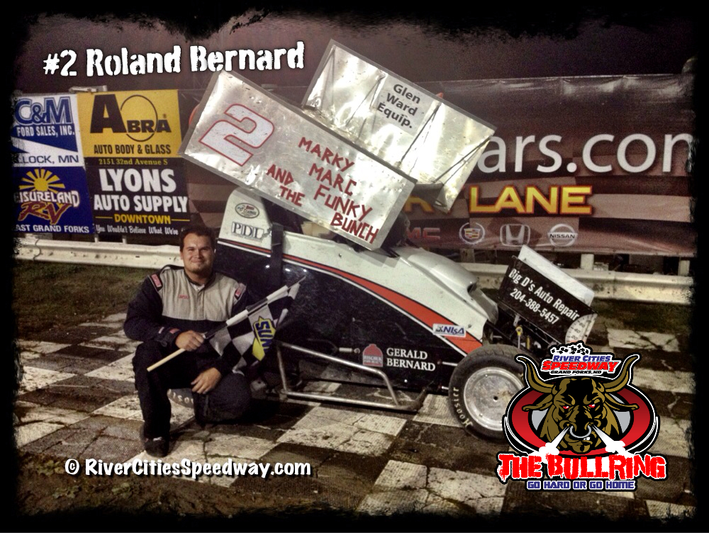 #2 Roland Bernard Wins Sept 14th 2012 River Cities Speedway Lightning Sprints Feature Event