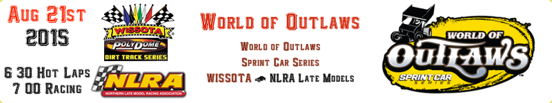 World of Outlaws Sprint Car Series Aschedule River Cities Speedway Aug 21st 2015