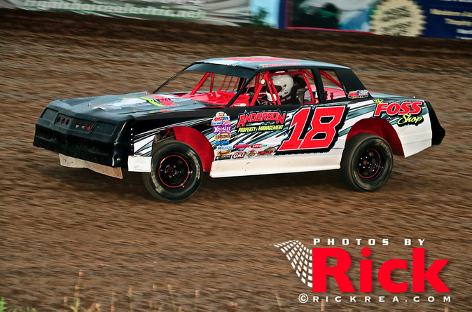 Dirt Track Racing , Street Stock , Mike Anderson, Photo by Rick Rea