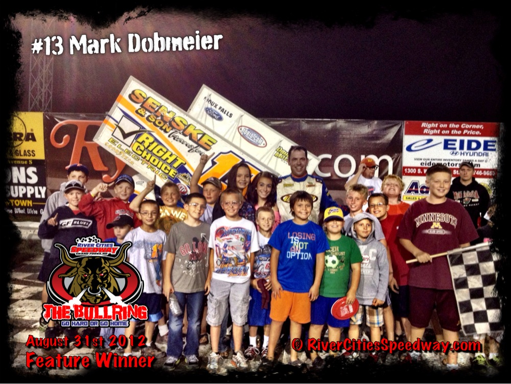 August 31st River Cities Speedway Track Championship Feature Winner - Mark Dobmeier