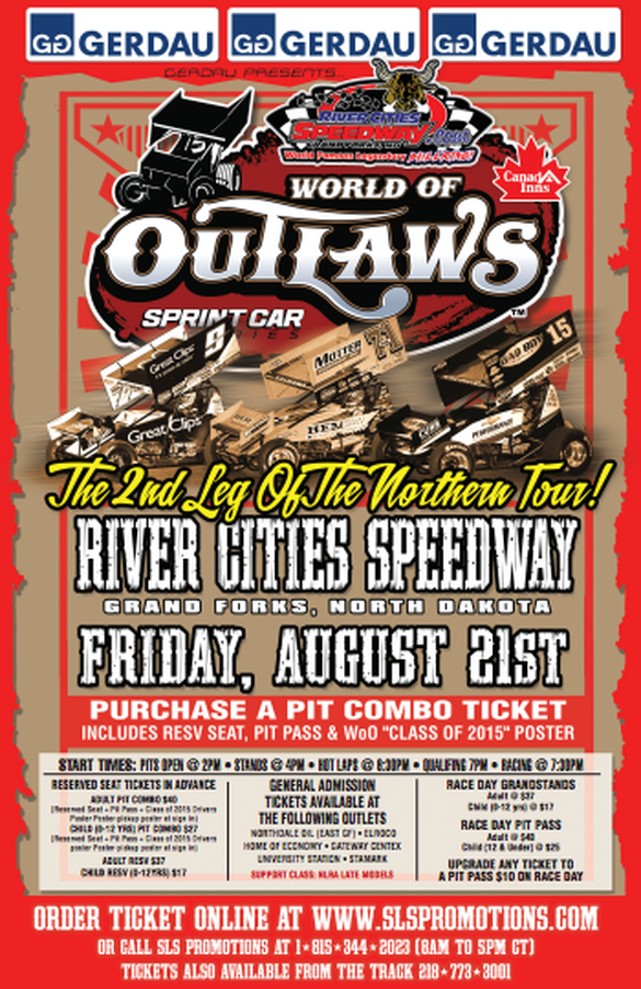 SLS Promotiona and River Cities Speedway present the World of Outlaws Sprint Car Series