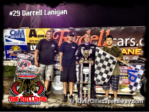 River Cities Speedway - #29 Darrell Lanigan World of Outlaw Late Model Feature Winner 7-13-12