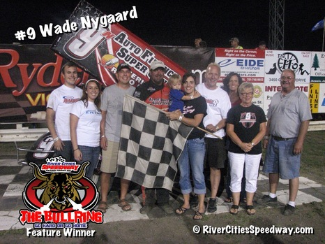 #9N Wade Nygaard 410 Outlaw Sprint - Grand Forks ND - River Cities Speedway