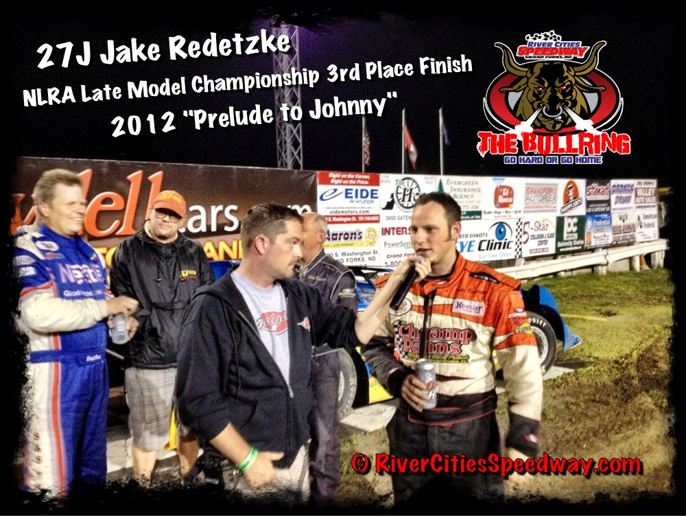 Jake Redetzke 3rd Place Finish at River Cities Speedway NLRA Championship Photo by: Darren Evavold