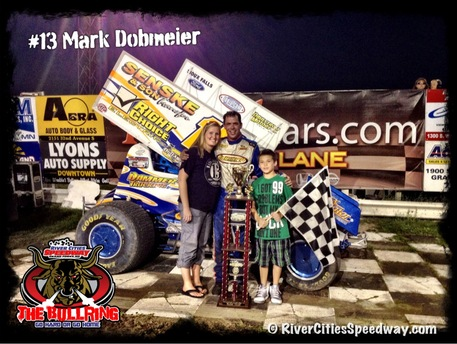 River Cities Speedway -#13 Mark Dobmeier Feature Winner July 13th 2012 - Photo by: Rick Rea