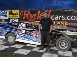 Midwest Mod Racecar Driver Matt Schow of Mcintosh MN - River Cities Speedway