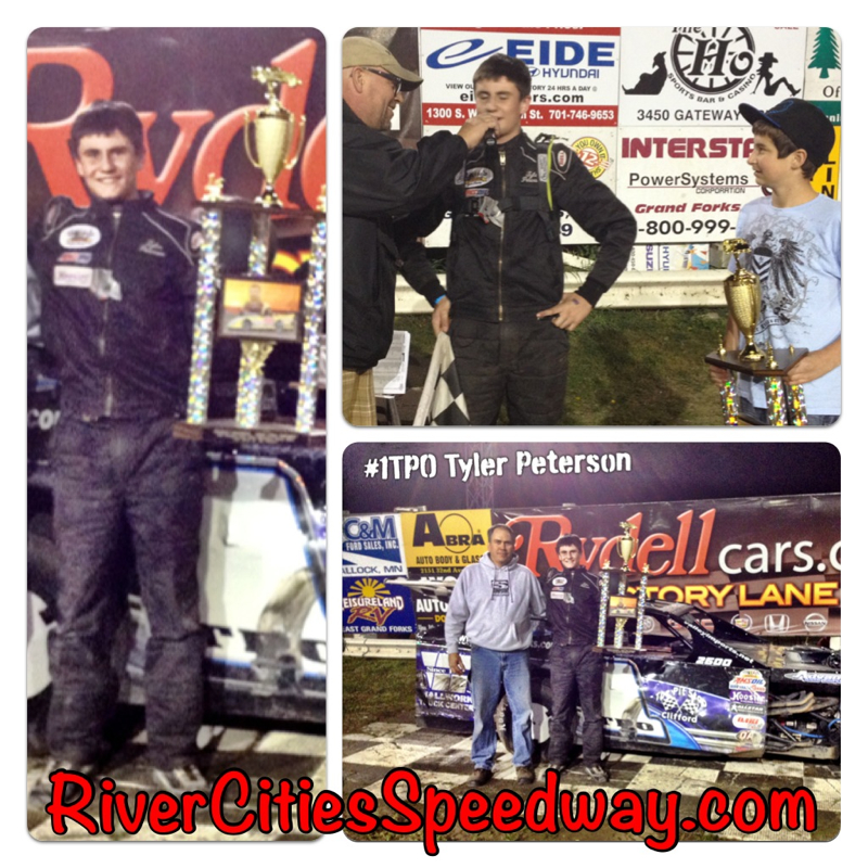 Tyler Peterson of Hickson ND Won the 2012 John Seitz Midwest Mod Feature at River Cities Speedway