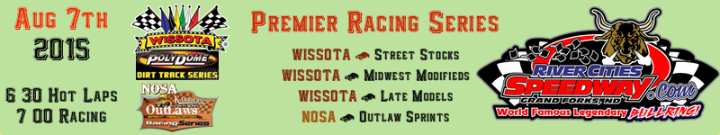 August 7th 2015 River Cities Speedway Schedule