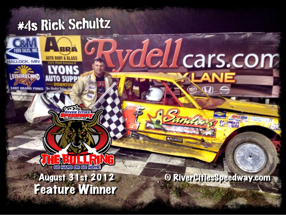 #4s Rick Schultz Street Stock Driver from Horace ND - River Cities Speedway