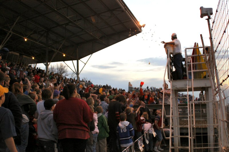 Candy Toss at River Cities Speedway