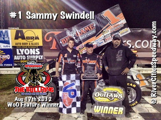 #1 Sammy Swindell World of Outlaw Driver from Germantown, TN - Photo By: Rick Rea - River Cities Speedway
