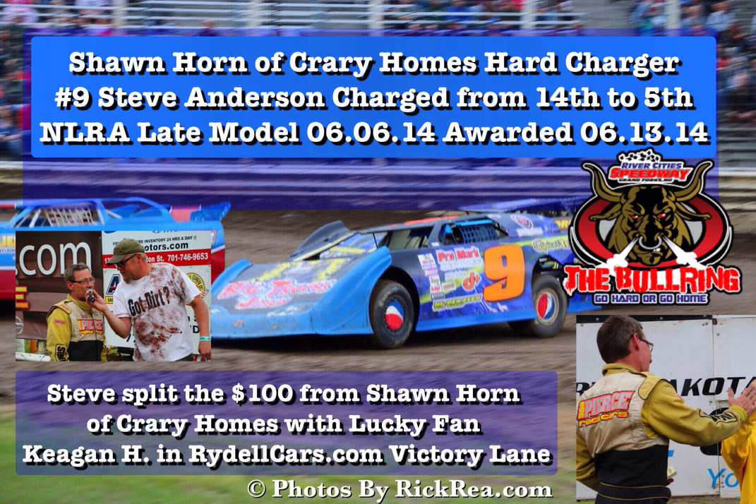 Steve Anderson Jr NLRA Late Model Driver Awarded Shawn Horn Hard Charger Award
