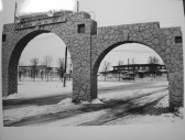 Stone Arches built under the WPA at River Cities Speedway