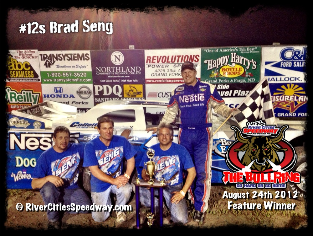 #12s Brad Seng Aug 24th River Cities Speedway Late Model Feature Winner