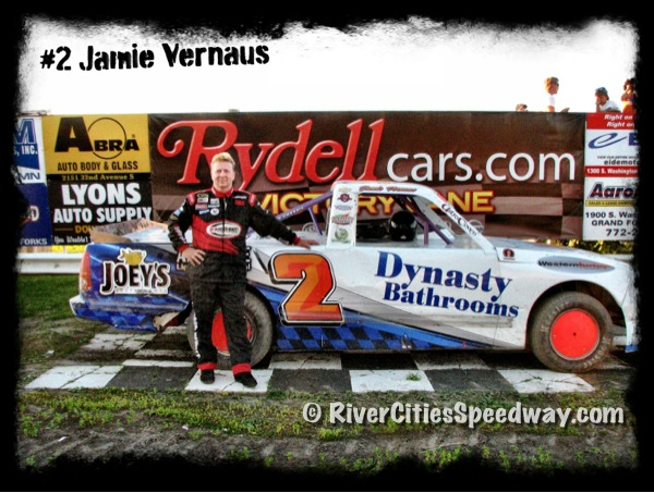 Jamie Vernaus of Anola Manitoba Canada - Photo by: Rick Rea - River Cities Speedway