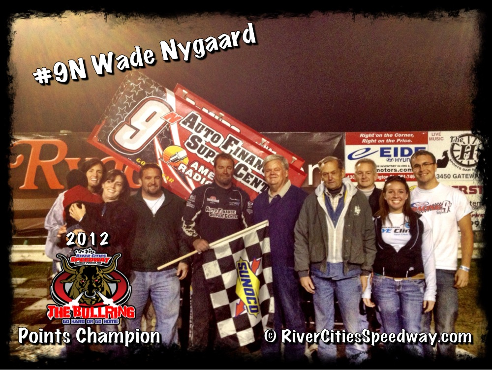 #9N Wade Nygaard  wins the 2012 River Cities Speedway 410 Outlaw Sprint Car Season Championship