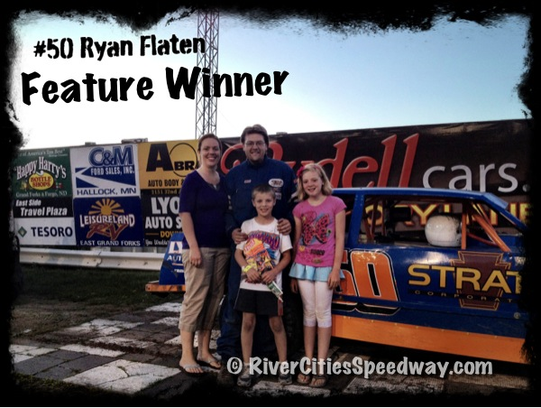 #50 Street Stock Race Car Driver Ryan Flaten of Grand Forks ND - Photo by: Rick Rea - River Cities Speedway