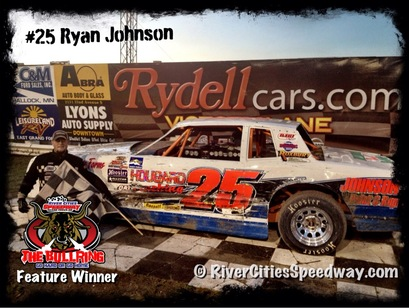 #25 Ryan Johnson Street Stock from  Karlstad MN - River Cities Speedway