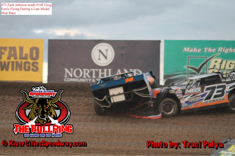 Late Model Rollover: Greg Ferris & Zach Johnson at River Cities Speedway