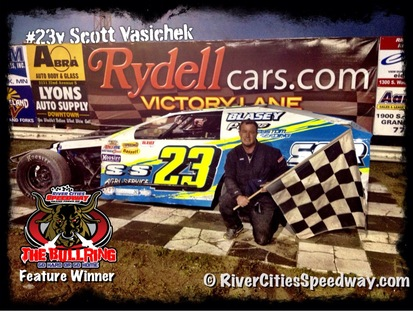 #23v Scott Vasichek Midwest Mod Race Car Driver - Michigan ND  - River Cities Speedway