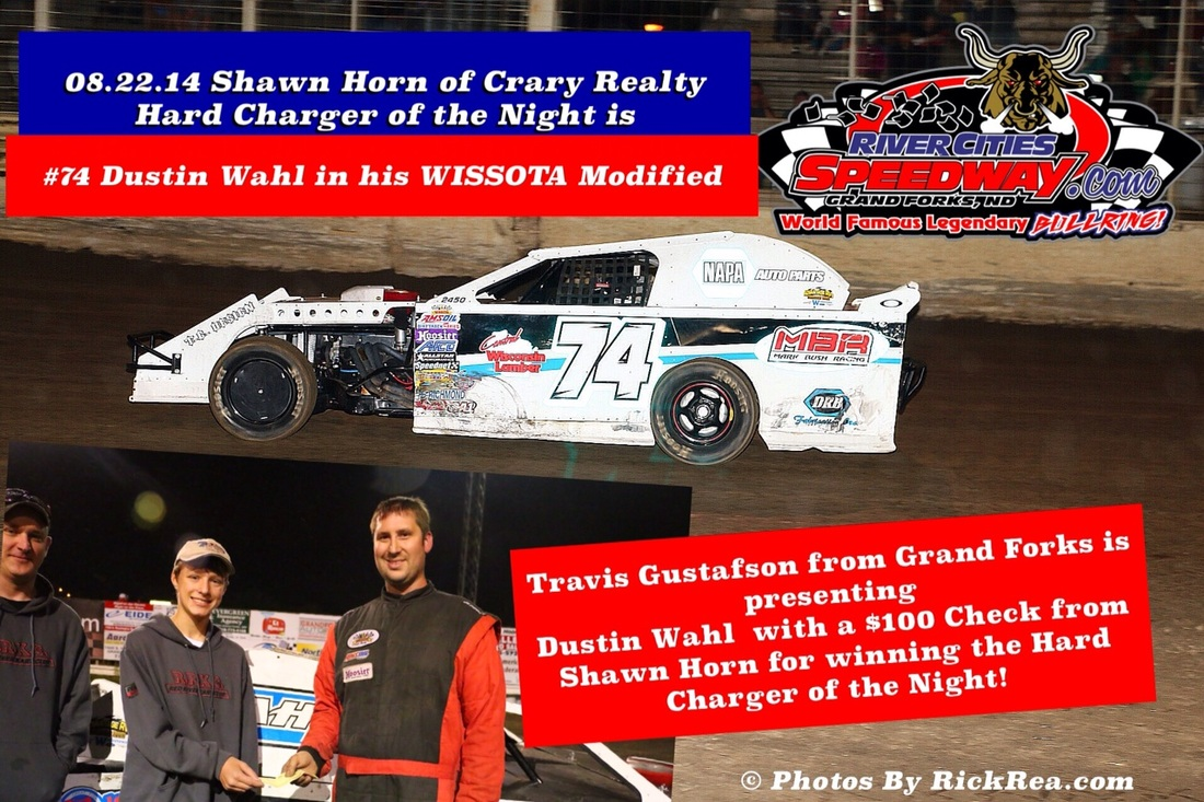 Dustin Whal - Shawn Horn of Crary Realty Hard Charger of the Night at River Cities Speedway