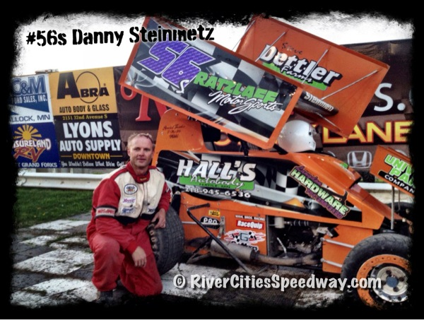 #56s Lightning Sprint Race Car Driver Danny Steinmetz of Wales ND - Photo By: Rick Rea - River Cities Speedway