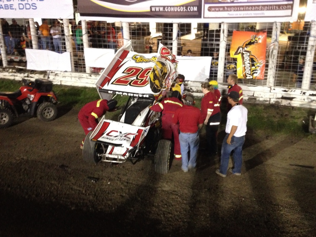 #29 Kerry Madsen from St. Marys, New South Wales, Australia went for a tumble and walked away