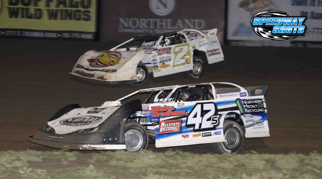 Don Shaw, Billy Mooney, River Cities Speedway, NLRA Late Models, late models, wissota late models, dirt late models, speedway shots, mike spieker